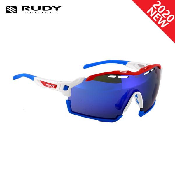 루디프로젝트 RUDY PROJECT/컷라인 글로스 화이트_레드+블루 범퍼/멀티레이저 블루 SP633969-0014/CUTLINE MULTILASER BLUE