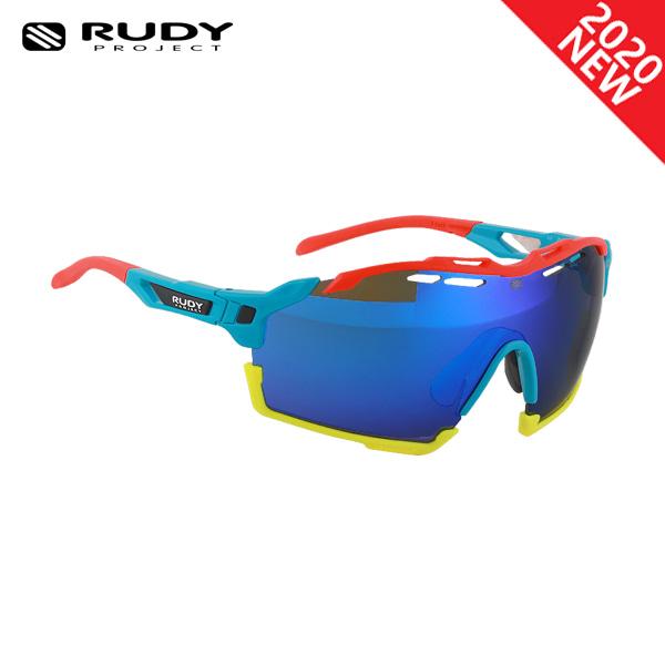 루디프로젝트 RUDY PROJECT/컷라인 글로스 아주르_레드 플루오+블루 범퍼/멀티레이저 블루 SP633981-0000/CUTLINE MULTILASER BLUE