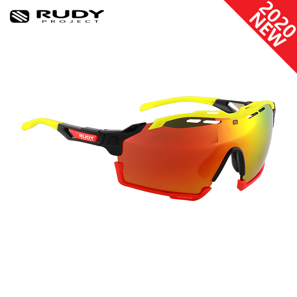 루디프로젝트 RUDY PROJECT/컷라인 글로스 블랙_옐로우 플루오+레드 플루오 범퍼/멀티레이저 오렌지 SP634042-0004/CUTLINE MULTILASER ORANGE