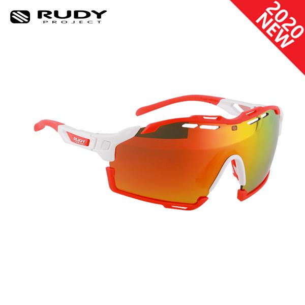 루디프로젝트 RUDY PROJECT/컷라인 글로스 화이트_레드 플루오 범퍼/멀티레이저 오렌지 SP634069-0007/CUTLINE MULTILASER ORANGE