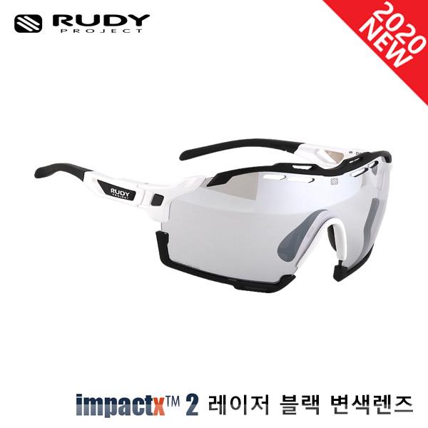 루디프로젝트 RUDY PROJECT/컷라인 글로스 화이트_블랙 범퍼/임팩트X™ 포토크로믹 2 레이저 블랙 SP637869-0012/CUTLINE IMPACT X  PHOTOCHROMIC2 LASER BLACK
