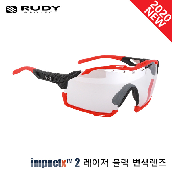 루디프로젝트 RUDY PROJECT/컷라인 카보니움_레드 플루오 범퍼/임팩트X™ 포토크로믹 2 레이저 블랙 SP637819-0000/CUTLINE IMPACT X  PHOTOCHROMIC2 LASER BLACK