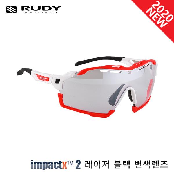 루디프로젝트 RUDY PROJECT/컷라인 글로스 화이트_레드 플루오 범퍼/임팩트X™ 포토크로믹 2 레이저 블랙 SP637869-0013/CUTLINE IMPACT X  PHOTOCHROMIC2 LASER BLACK