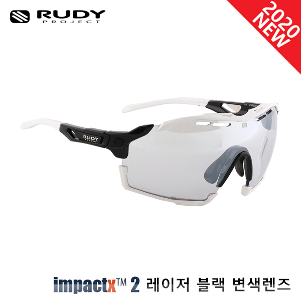 루디프로젝트 RUDY PROJECT/컷라인 글로스 블랙_화이트 범퍼/임팩트X™ 포토크로믹 2 레이저 블랙 SP637842-0002/CUTLINE IMPACT X  PHOTOCHROMIC2 LASER BLACK