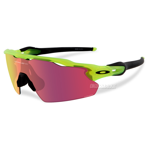 오클리 선글라스 레이다 EV 피치 우라늄 콜렉션 프리즘렌즈 OO9211-09 OO9211-0938 OAKLEY URANIUM COLLECTION PRIZM RADAR EV PITCH MATTE URANIUM/PRIZM BASEBALL