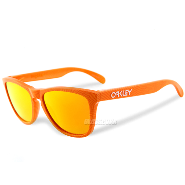 오클리 선글라스 프로그스킨 핑거프린트 콜렉션 OO9013-53 OO9013-5355 OAKLEY FINGERPRINT COLLECTION FROGSKINS ORANGE/FIRE IRIDIUM