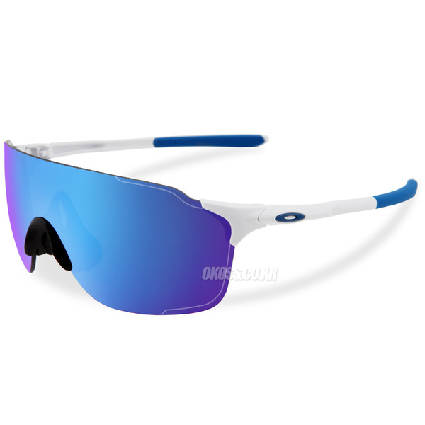 오클리 선글라스 EV제로 스트라이드 아시안핏 OO9389-02 OO9389-0238 OAKLEY ASIAN EVZERO STRIDE POLISHED WHITE/SAPPHIRE IRIDIUM